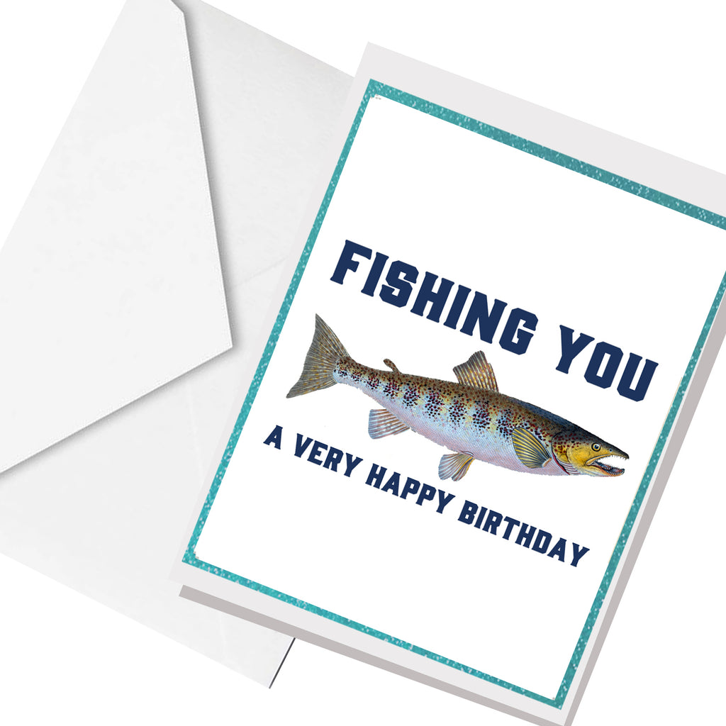 fishing you birtdhay ... greeting card