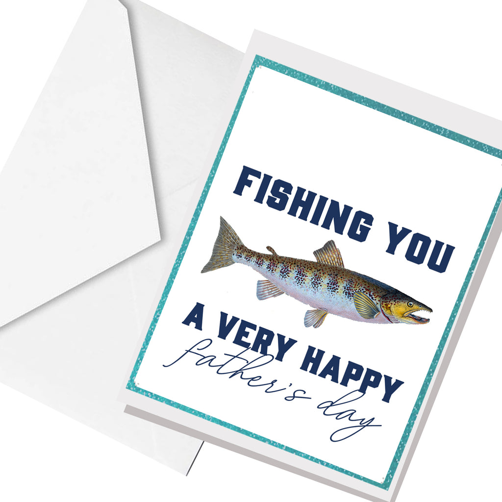 fishing you ... greeting card
