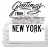 Greetings from NY- flour sack/ tea towel