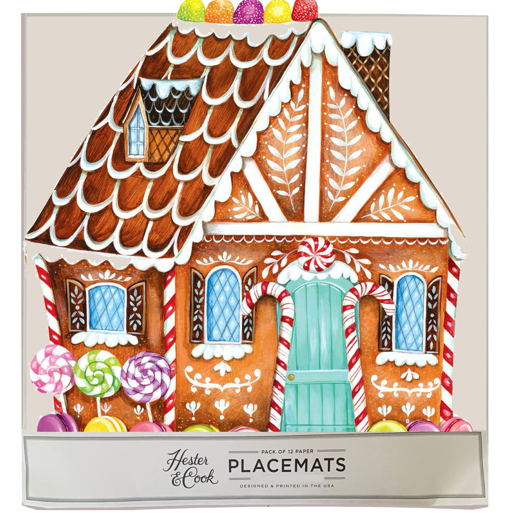 Gingerbread house Die-Cut Placemat Sheets Placemat