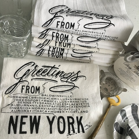 GREETINGS FROM NY: COTTON TOWEL