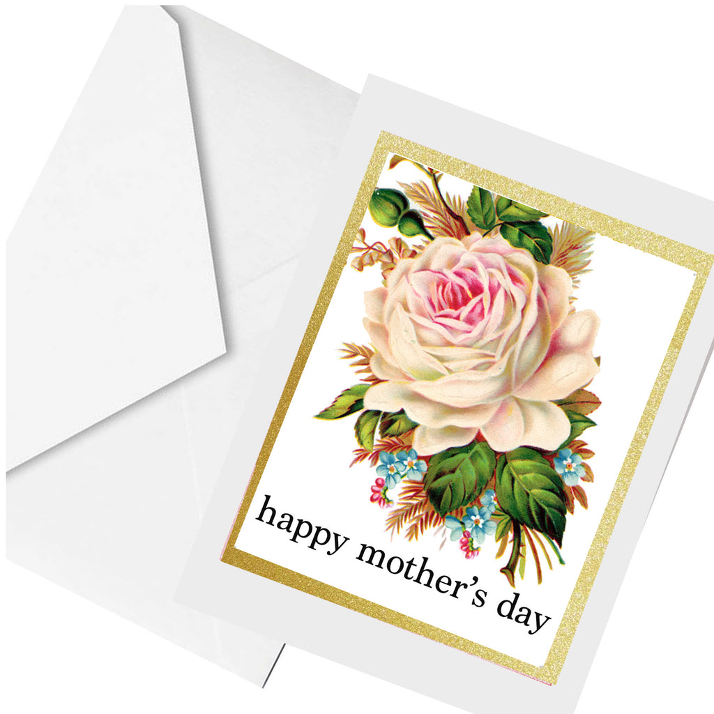 mom rose ... greeting card