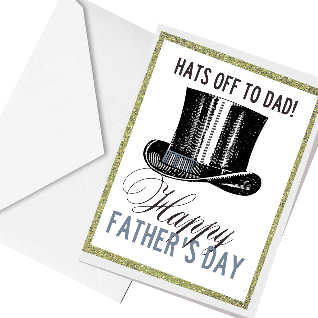 Hats OFF father's day... greeting card