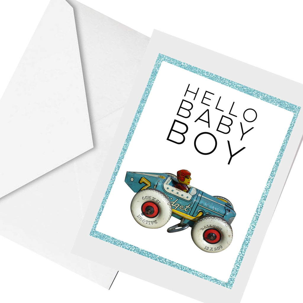 hello BABY Boy... greeting card