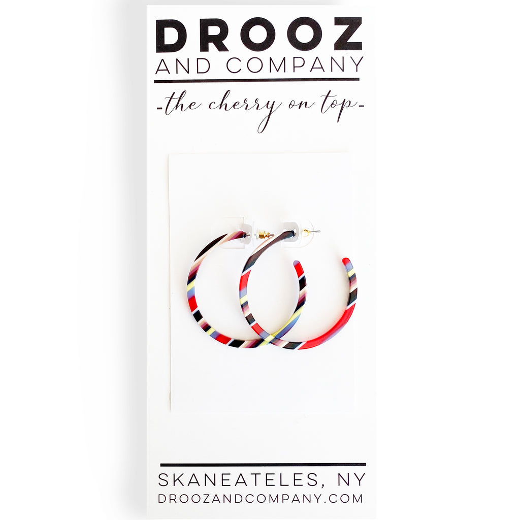 Multi-Colored Acetate Hoops (medium)- the cherry on top
