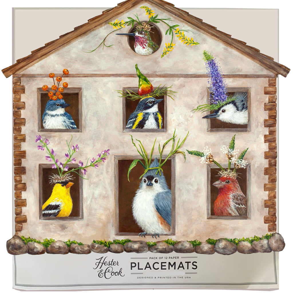 Bird House Party  Die-Cut Placemat Sheets Placemat