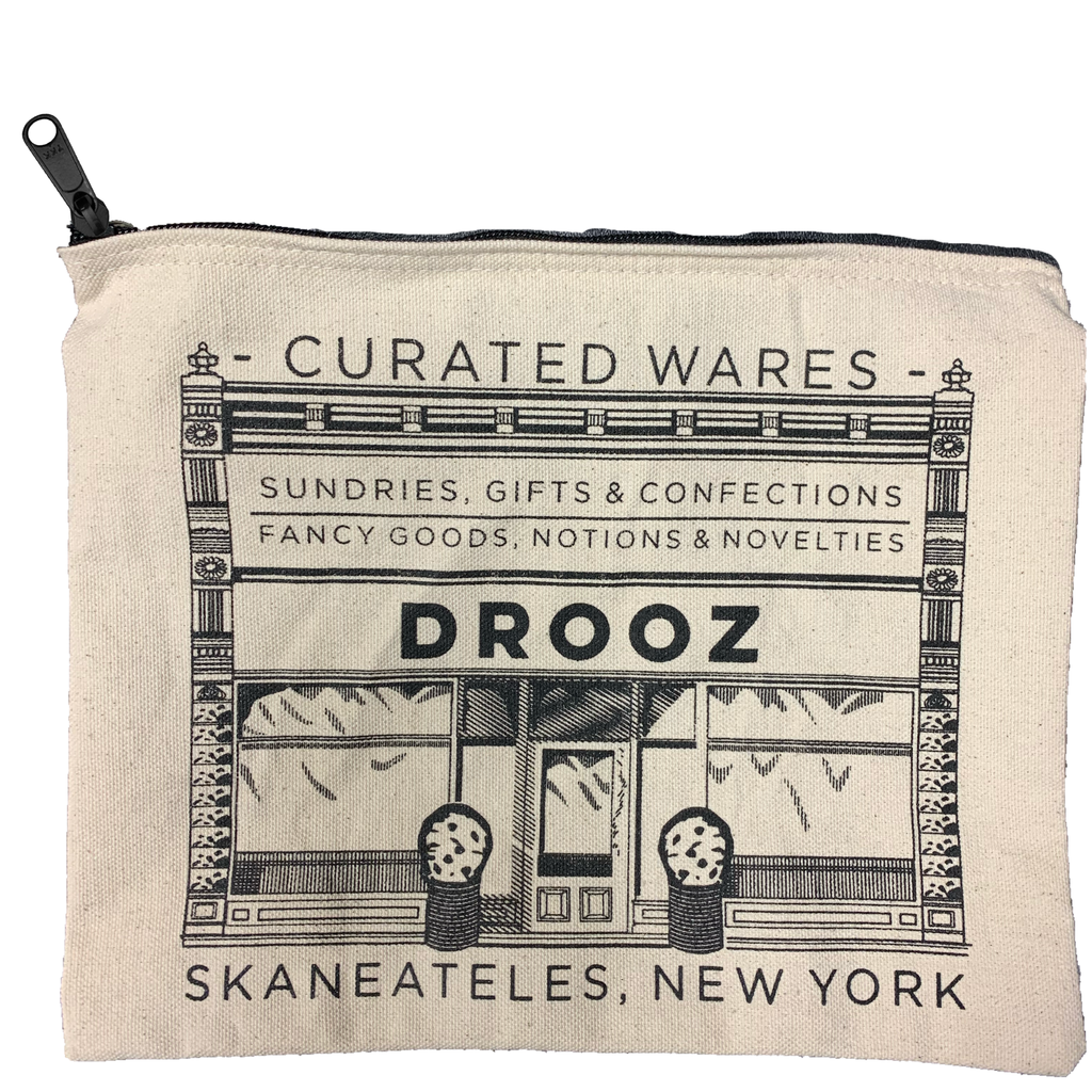 DROOZ canvas zip pouch