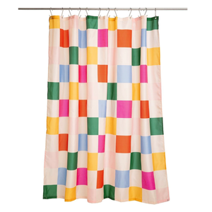 Dance floor shower curtain
