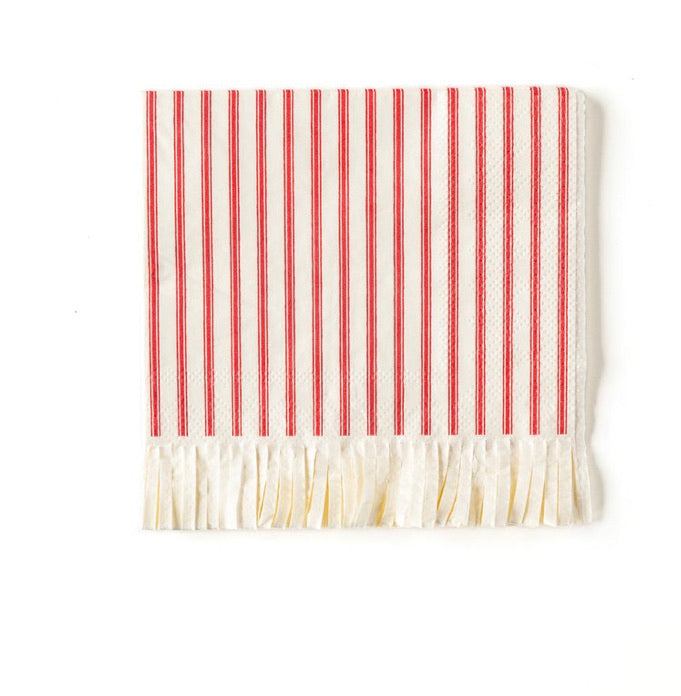 fringed holiday napkins