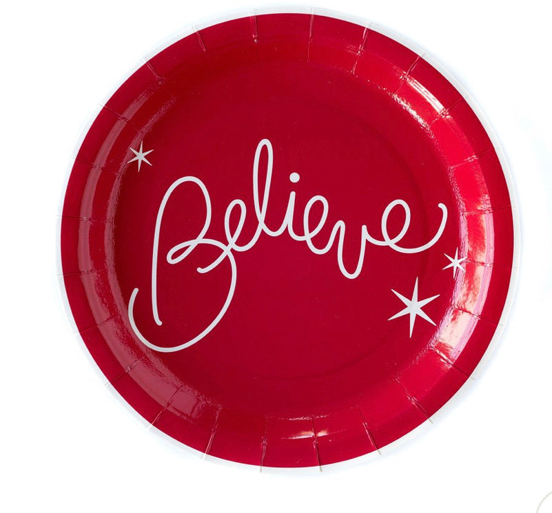 Believe paper plates