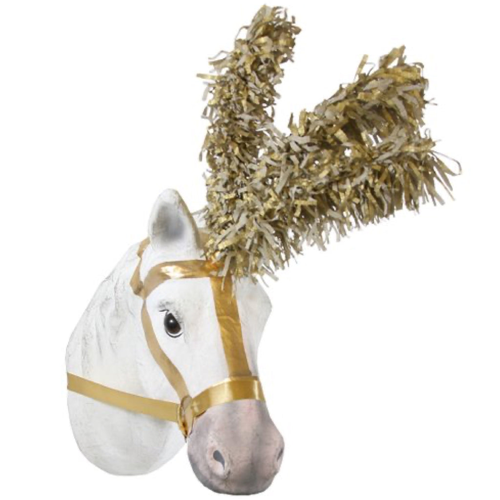 "Gold ""Feather"" circus horse"