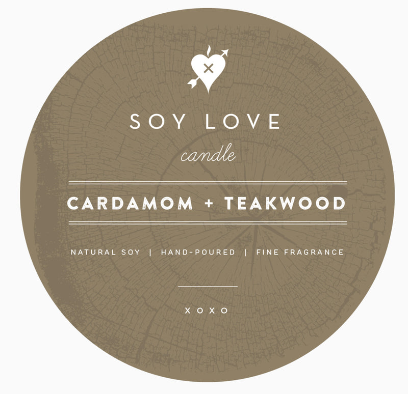 Cardamon & teakwood candle