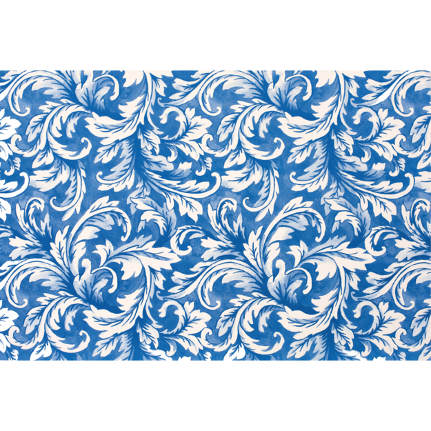 China Blue Acanthus Placemats : paper placemats