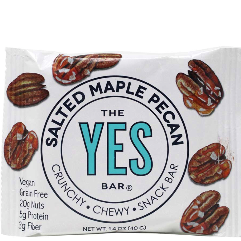 Salted Maple pecan  : YES Bar