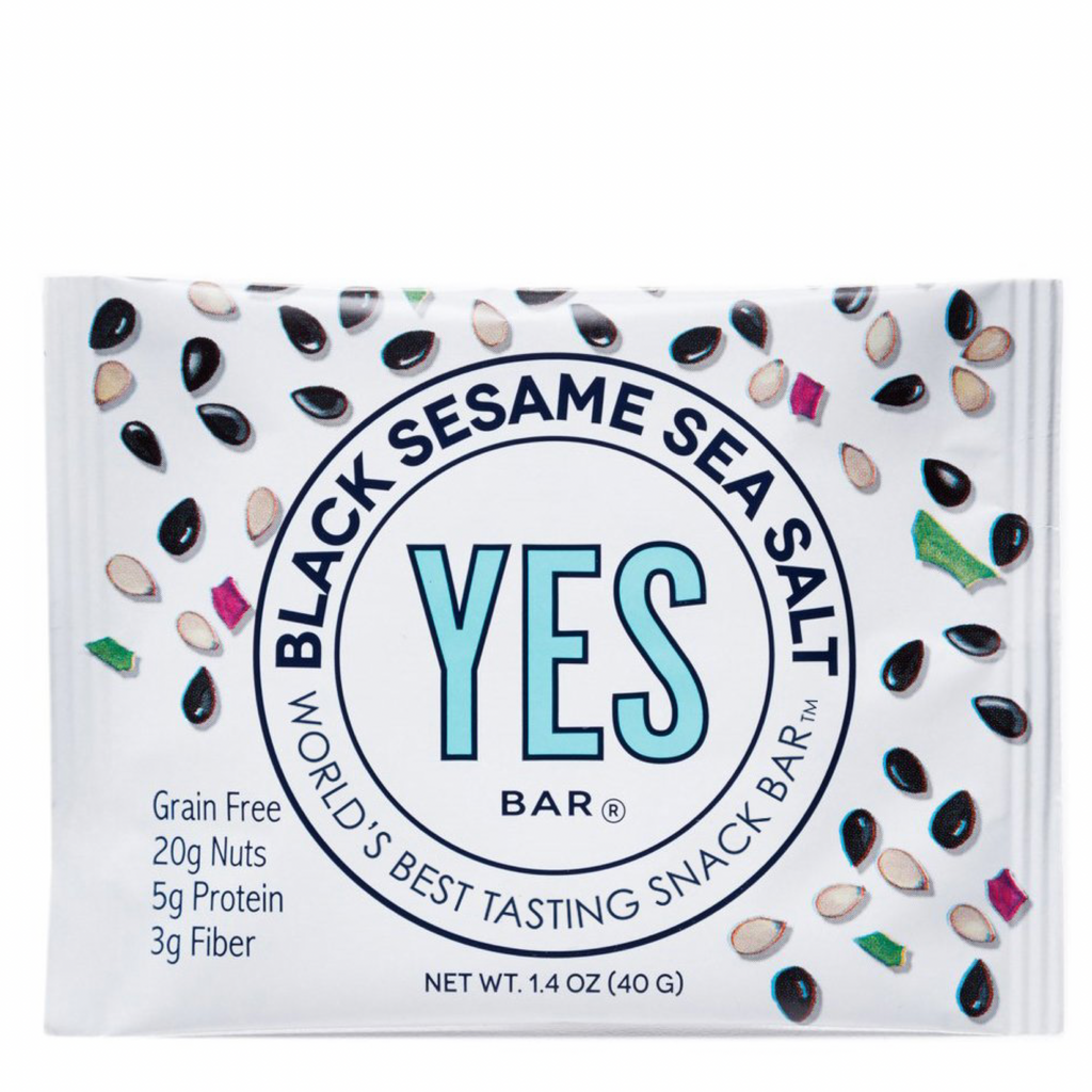 Black Sesame sea salt  : YES Bar