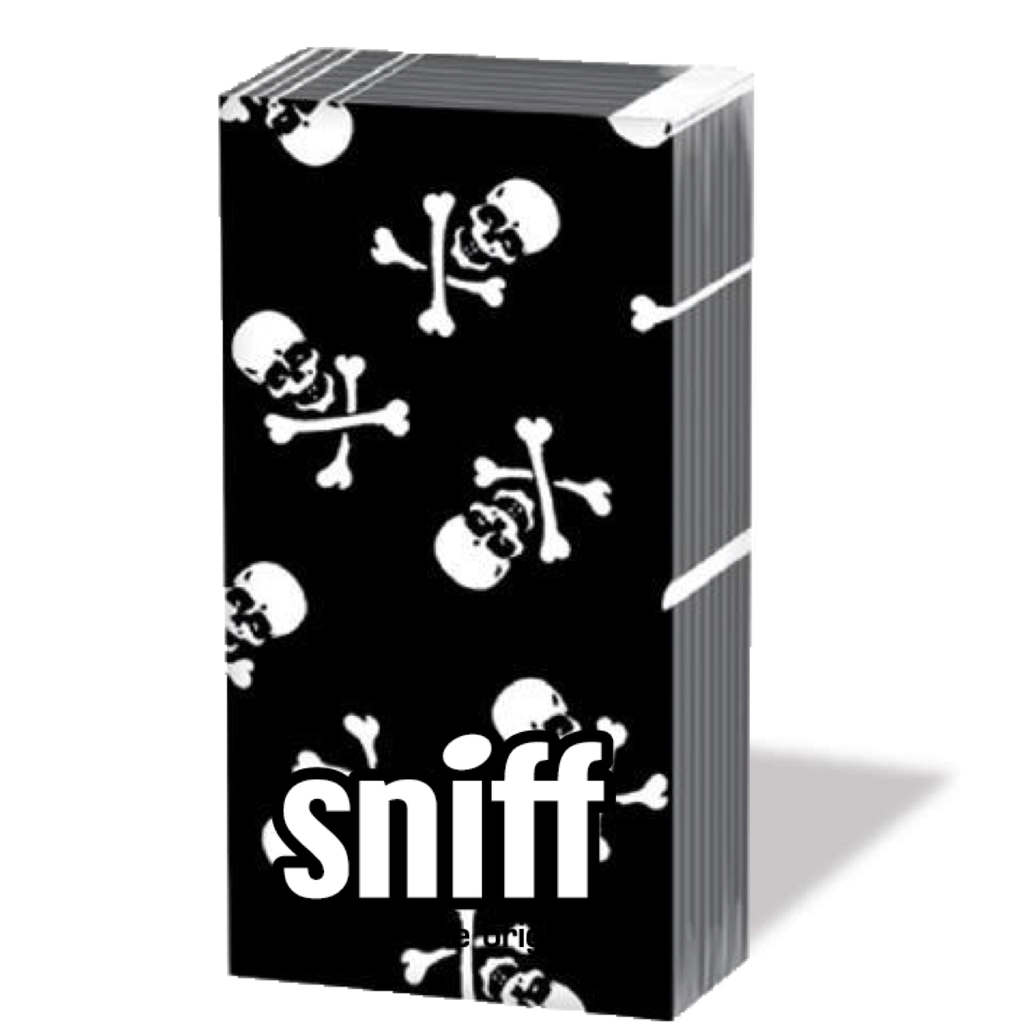 pirate skull: sniff tissue pack