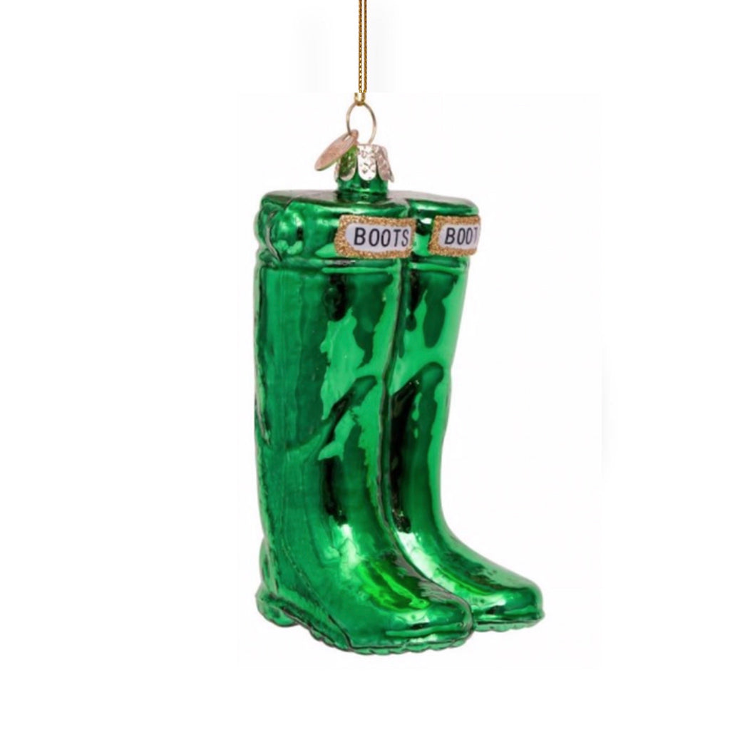 Green Garden boots ornament