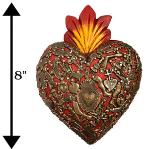 Sacred Wooden Heart Milagros