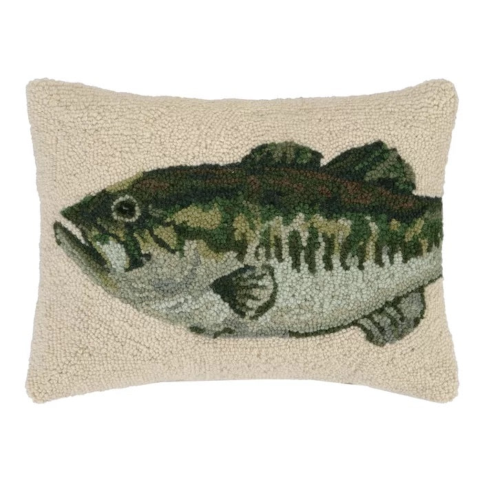 Bass Hook Wool Pillow