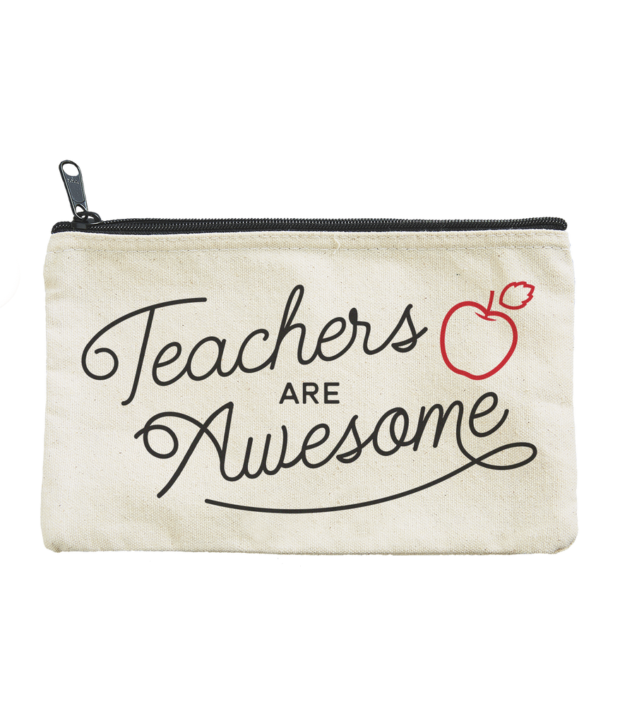TEACHERS ARE AWESOME CANVAS POUCH