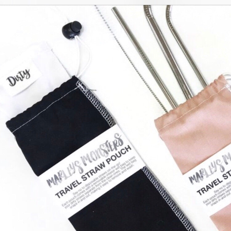 travel straw pouch