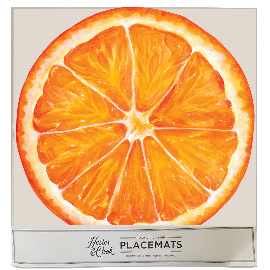 Die Cut Orange Slice: paper placemats