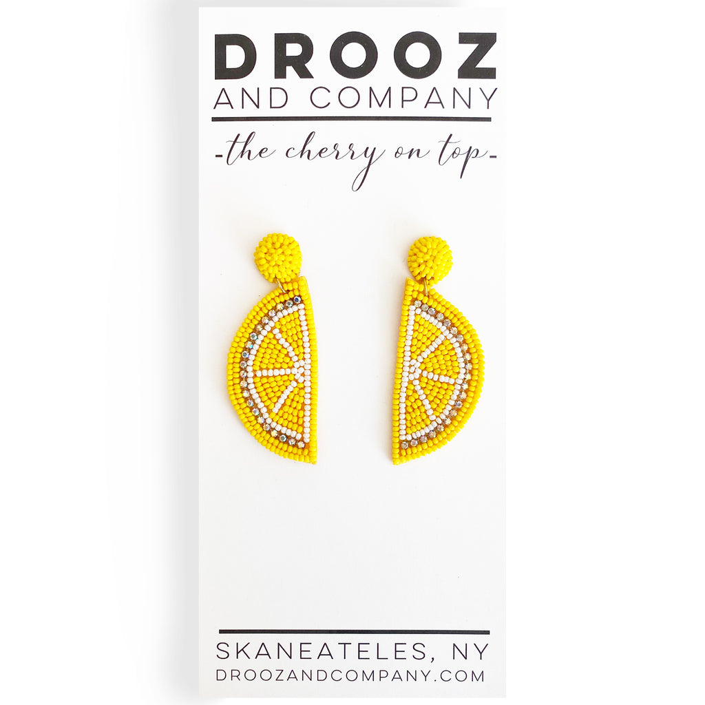 Lemon Wedge Earring- the cherry on top