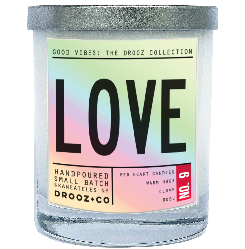 LOVE {GOOD VIBES collection} DROOZ Candle No.9