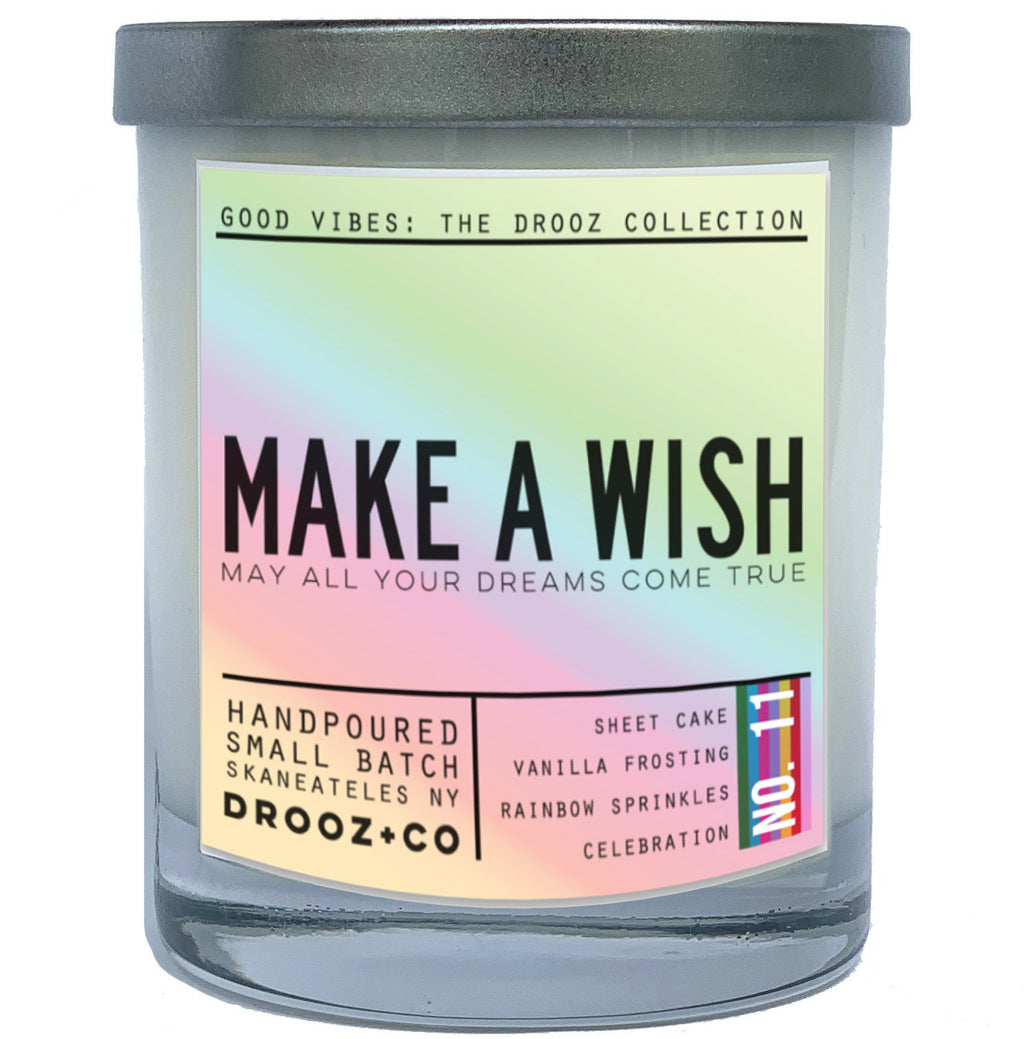 MAKE A WISH {GOOD VIBES Collection} } DROOZ candle No.11
