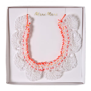 crochet & ribbon necklace