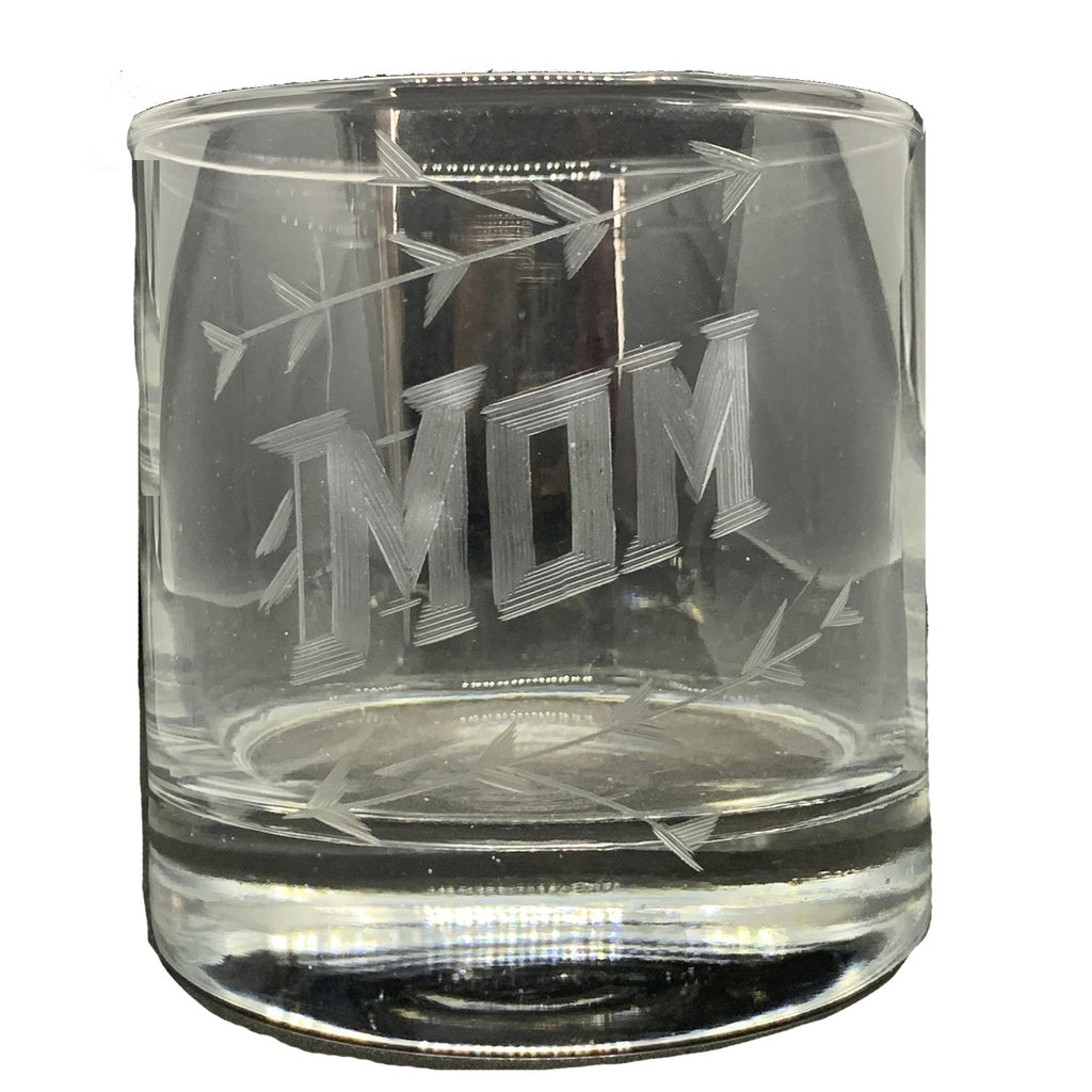 MOM rocks glass