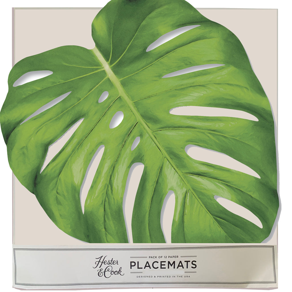 Monstera Leaf  Die-Cut Placemat Sheets Placemat