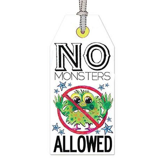no monsters: DOOR TAG
