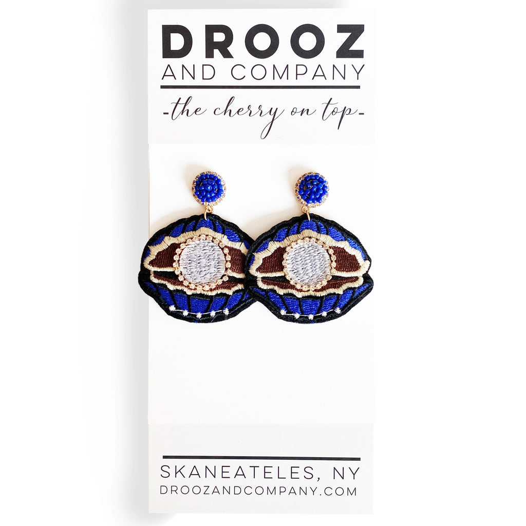 Navy Eye Earring- the cherry on top