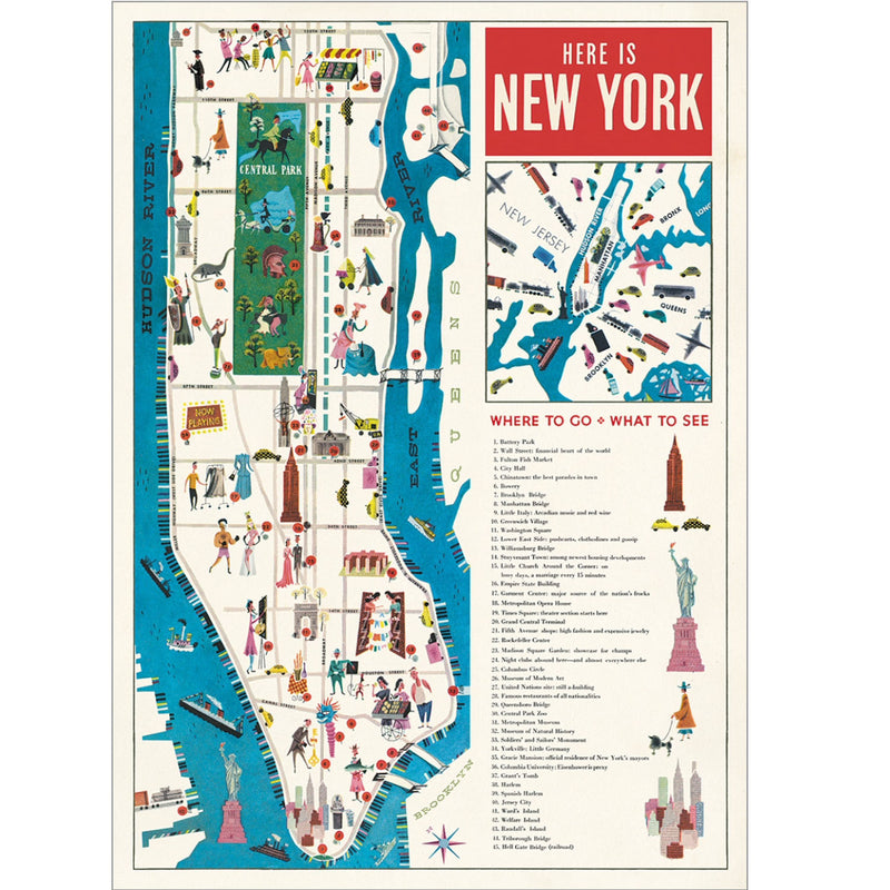 Map 5 NYC Poster