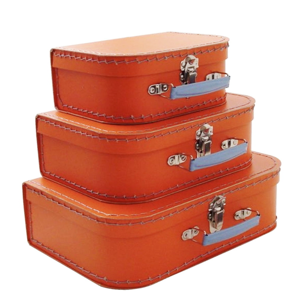 mini orange suitcase