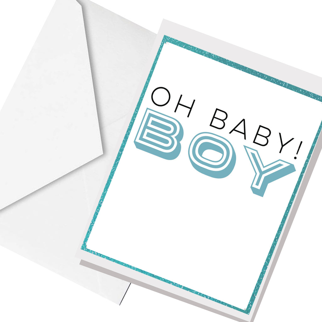 Oh BABY Boy... greeting card
