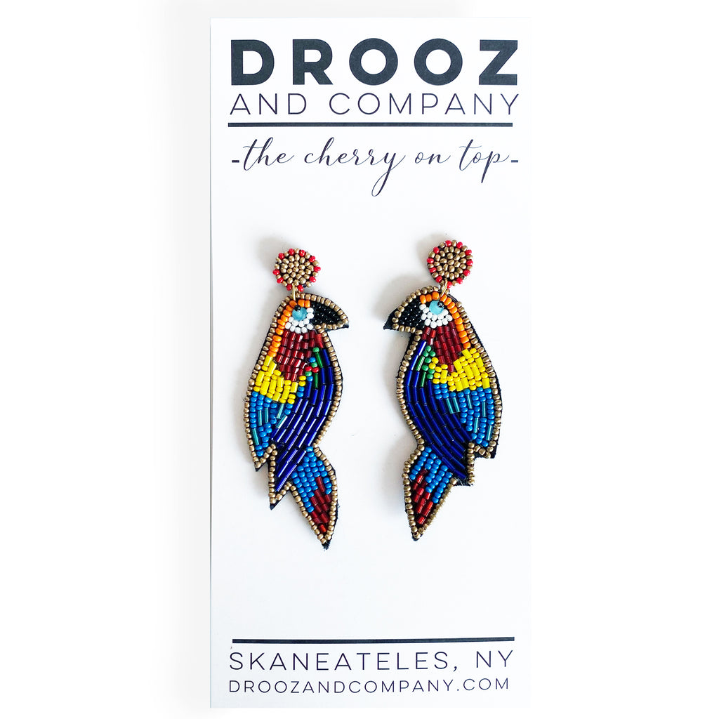 Parrot Earrings- the cherry on top