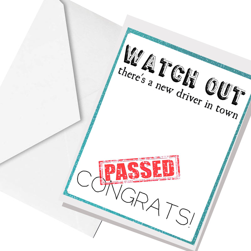 passed! ... greeting card