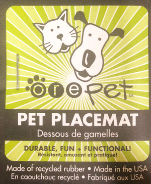 Skinny Rectangle Natural Recycled Rubber Pet Placemat