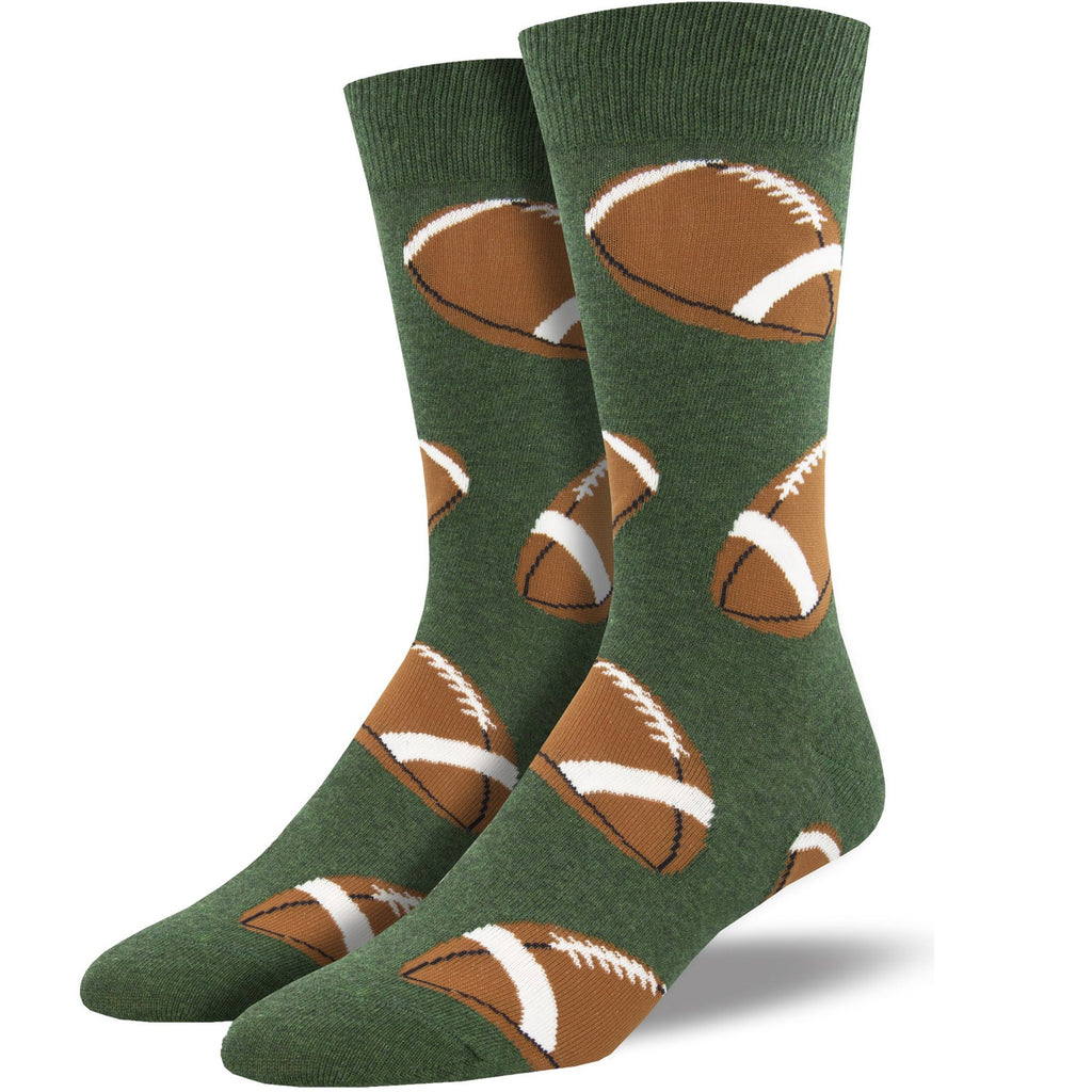 football - green sock