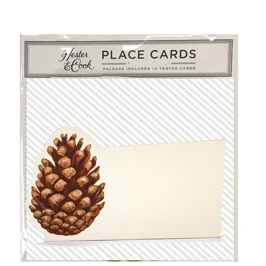 pine cone : place cards