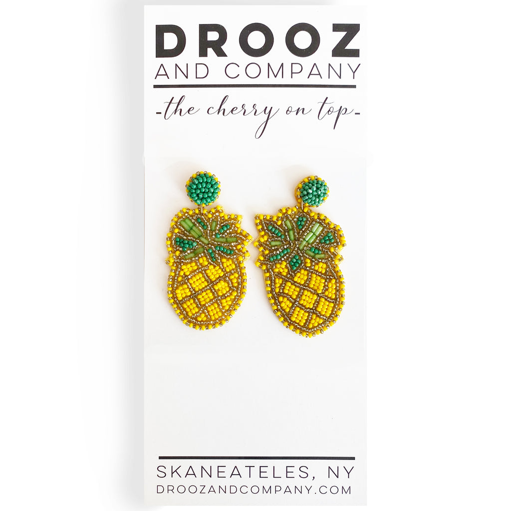 Pineapple Earring- the cherry on top