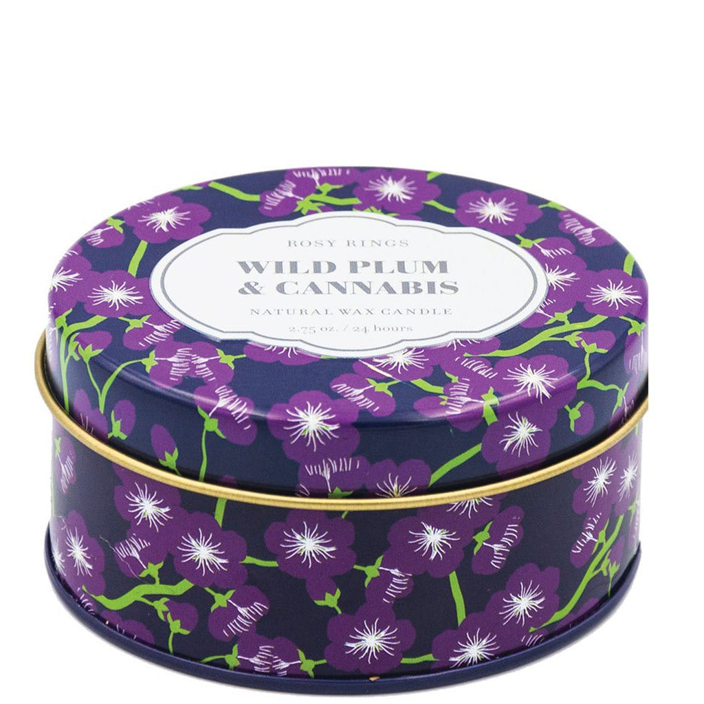 wild plum & Cannabis Travel Candle