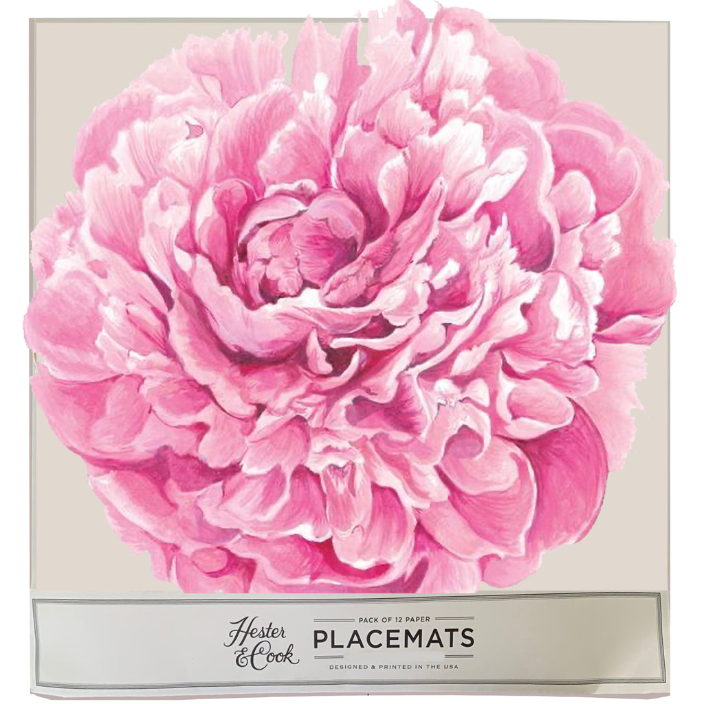 Peony Die-Cut Placemat Sheets Placemat