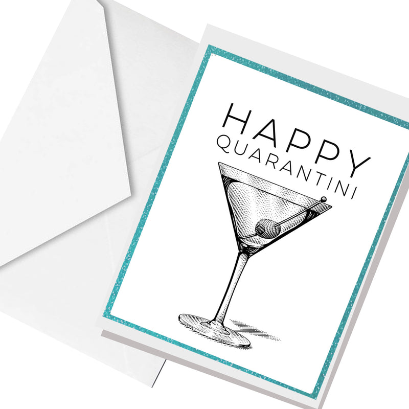happy quarintini ... greeting card