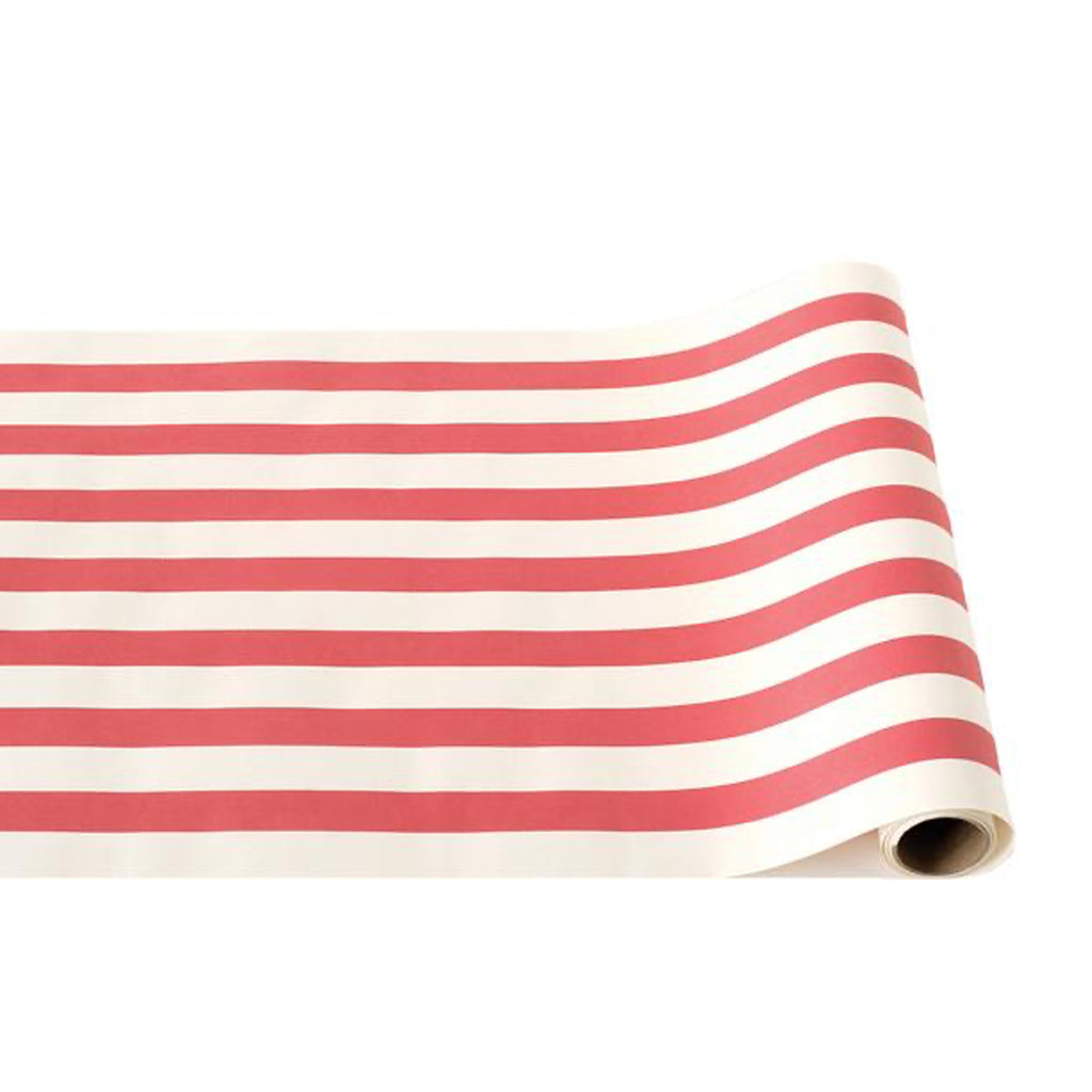 red classic stripe: paper table runner
