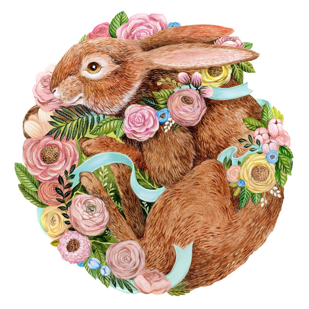 Die-Cut Bunny Bouquet:paper  placemats