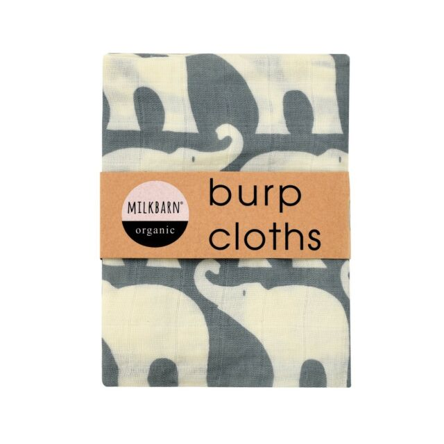 Blue Elephant Burp Cloths- Milkbarn