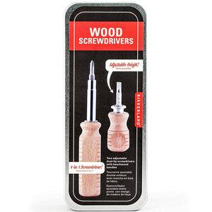 Wood Screwdriver Tin (2 Pack)- Kikkerland